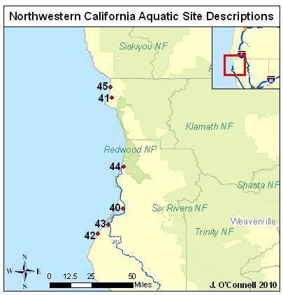 ca aquatic sites
