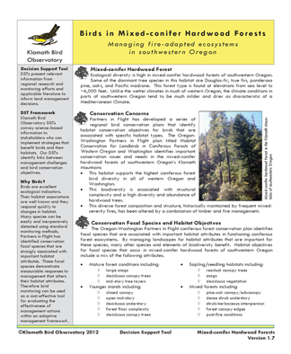 KBO 2012 Birds in mixed conifer hardwood forests cover page 72 ppi 4.5 x 5.5