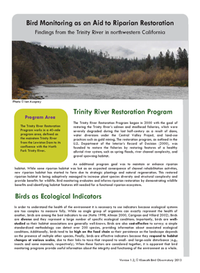 KBO and USFS PSW 2013 Findings from Trinity River cover page 72 ppi 4 x 5.4