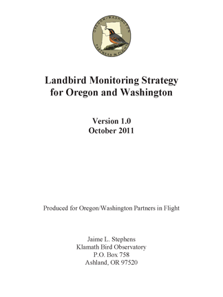 Stephens 2011 OR WA monitoring strategy cover 72 ppi 4.5x6
